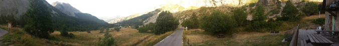 After the Col de la Cayole, at about 1300 mts