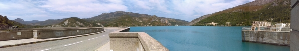 Castillon Lac Dam, one of the many dams