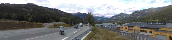 approaching Briancon on the way back home..