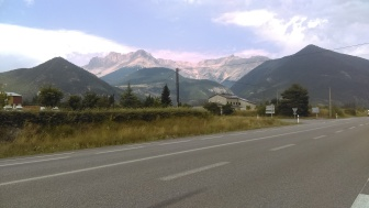 Somewhere after Gap with a viewing of the Haute Alps