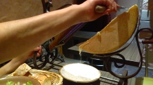 ...Scrapping the cheese...