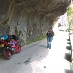 Crossing Gorges du Nan; Marie and I were like two papparazzis.. It's beautiful here!