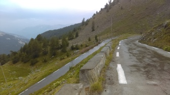 Wet and a tricky hairpin