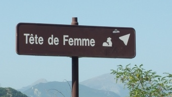 """Tete de femme or """"woman´s face"""""""