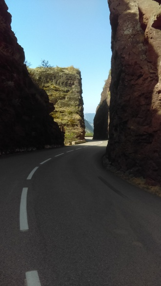 Simply amazing how the road cuts trough the red rock