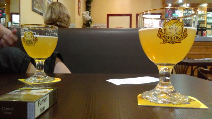 A beer in Saint Andre Les Alpes