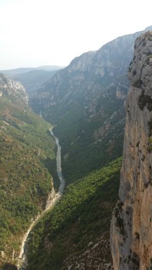 The Verdon River in between the gorges