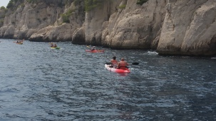 Kayaking along the Calanques