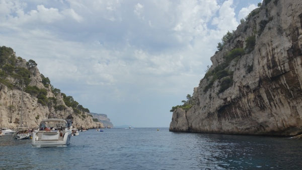 Leaving this bay in between the Calanques