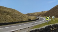 Notice the road sinking in towards the Ladybower forest. Great bends by the way