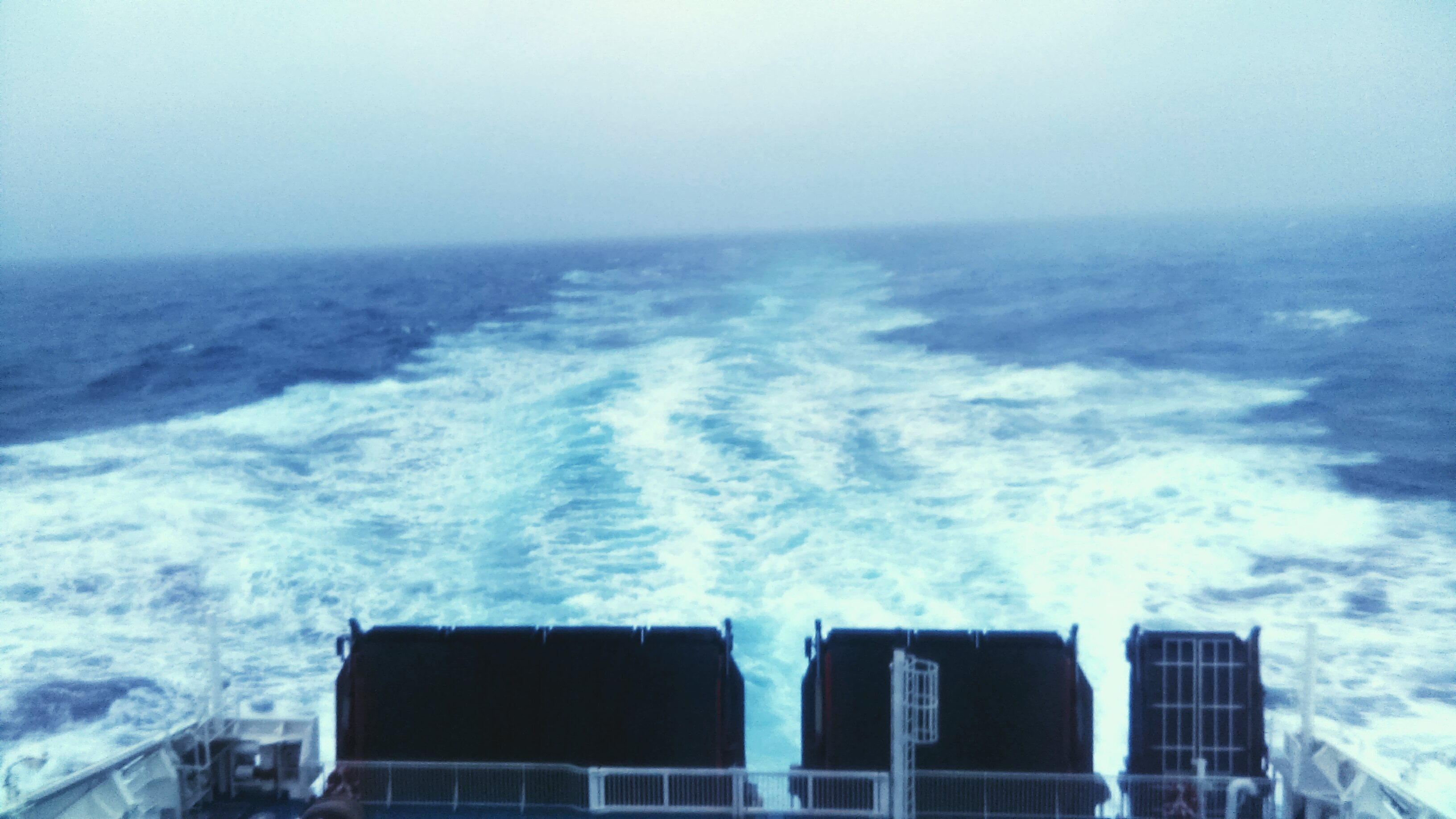 In open seas.